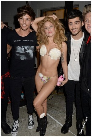 one direction.lady gaga 2013