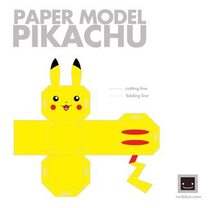 피카츄 papercraft