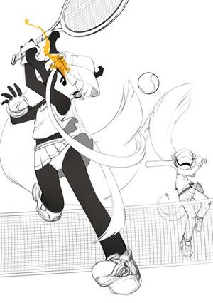 playing tenis