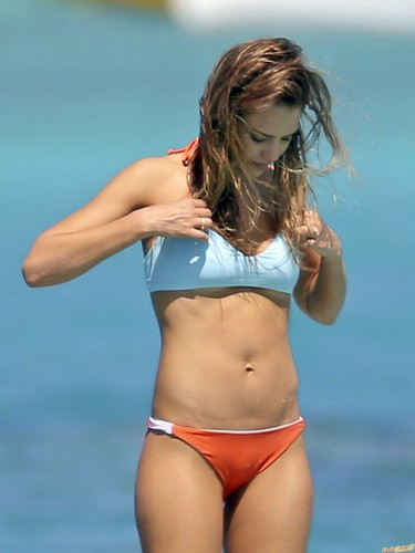 Jessica Alba wallpaper with a bikini titled the best bikini pics of Jessica!!!