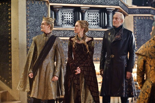 House Lannister wallpaper possibly with a fur coat and a mink called tywin with cersei and joffrey