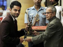 维拉特.科利 壁纸 called virat with arjuna award