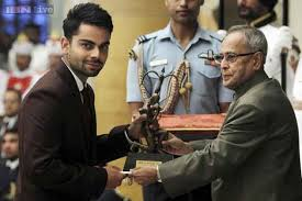 VIRAT KOHLI wolpeyper entitled virat with arjuna award