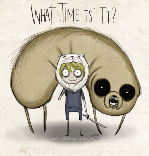 Adventure Time With Finn and Jake wallpaper titled what time is it