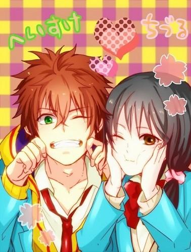 kawaii anime fondo de pantalla with anime entitled ♥Kawaii Couples♥