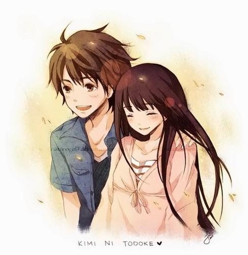Kawaii Anime wallpaper containing a portrait titled ♥Kawaii Couples♥