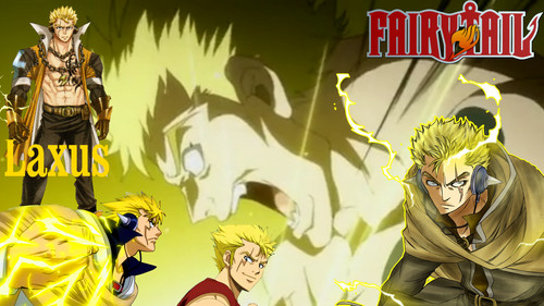 Fairy Tail kertas dinding containing Anime entitled *Laxus Dreyar*