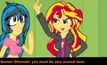 .:Lune and  Sunset shimmer:. You must be new here  - lune-the-hedgehog photo