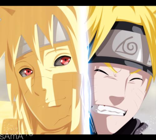 波风水门 壁纸 called *Naruto & Minato*