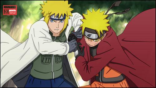 Minato Namikaze wallpaper with anime entitled *Naruto & Minato*