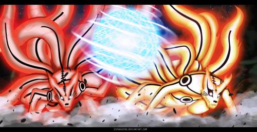 우즈마키 나루토 (질풍전) 바탕화면 entitled *Naruto & Minato*
