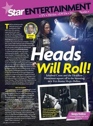 'Sleepy Hollow' on 星, つ星 Magazine