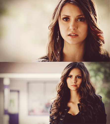 Katherine Pierce and Elena Gilbert wallpaper with a portrait called 'The Vampire Diaries' 4x18 'American Gothic'