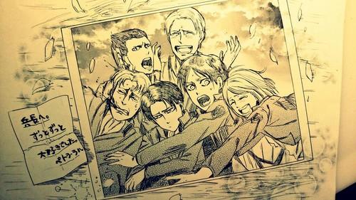 "Attack on Titan karatasi la kupamba ukuta containing anime entitled ""To Heichou: We will always upendo you"""