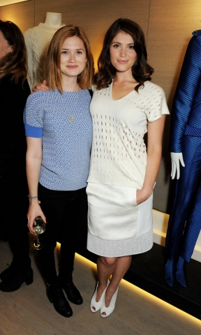 Bonnie Wright wallpaper probably with bare legs, hosiery, and a top entitled 2013 - Pringle of Scotland flagship store launch