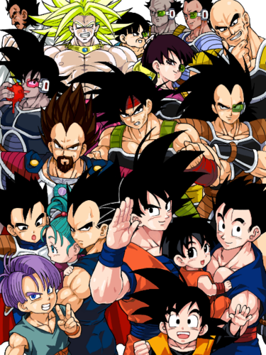 Dragon Ball Z karatasi la kupamba ukuta entitled ALL Saiyans!