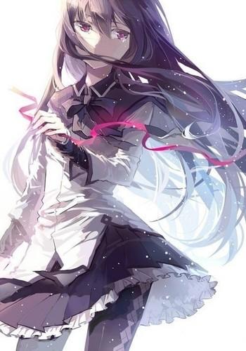 Puella Magi Madoka Magica پیپر وال titled Akemi Homura