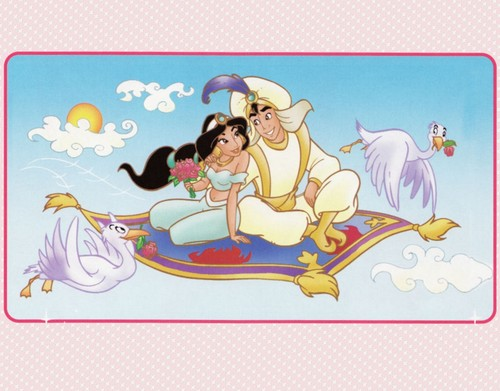 Aladdin and Jasmine wallpaper probably containing anime titled Aladdin And Jasmine