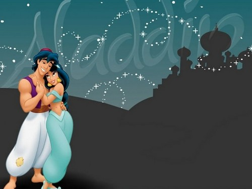 Aladdin and Jasmine wallpaper titled Aladdin And Jasmine
