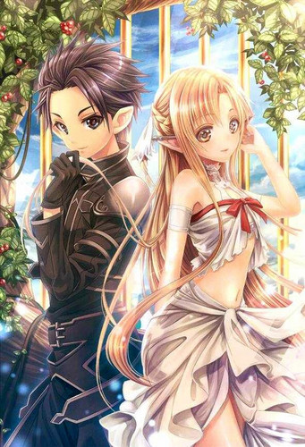 sword art online fondo de pantalla possibly with a bouquet and a cena dress entitled Alfheim Online