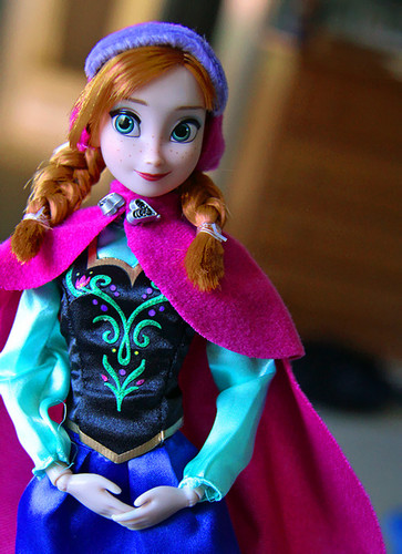 Frozen wallpaper titled Anna Disney Store doll's details