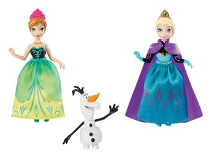 Anna and Elsa mini búp bê