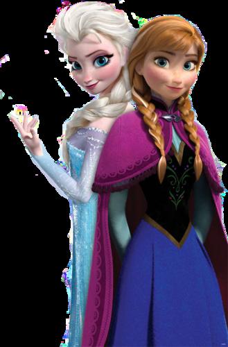 Princess Anna kertas dinding titled Anna and Elsa