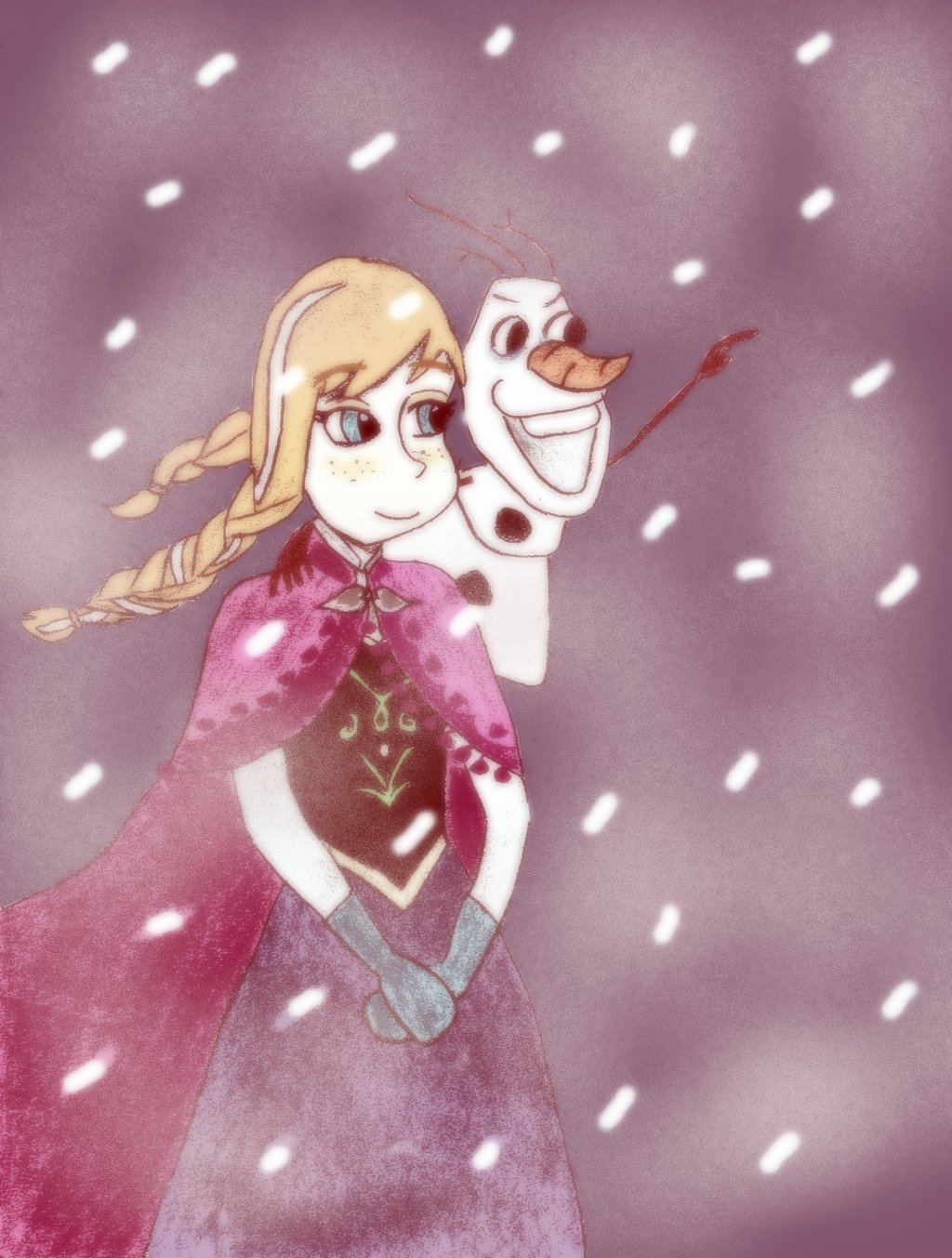 Anna and olaf frozen fan art 35501066 fanpop - Olaf and anna ...