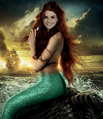 Once Upon A Time wallpaper possibly containing a swimsuit titled Ariel: Once Upon A Time