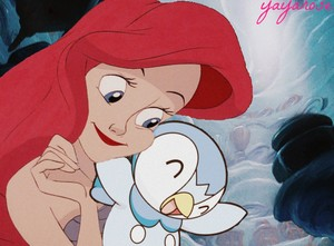 Ariel and Piplup