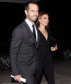 Attending a private reception hosted door Vacheron Constantin and AFPOB to Honor Benjamin Millepied
