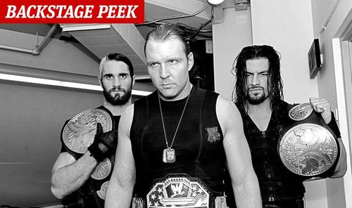 The Shield (WWE) wallpaper possibly containing a diner titled Backstage Peek