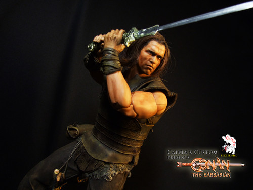 Arnold Schwarzenegger Hintergrund entitled Calvin's Custom One Sixth scale Conan the Barbarian custom figure
