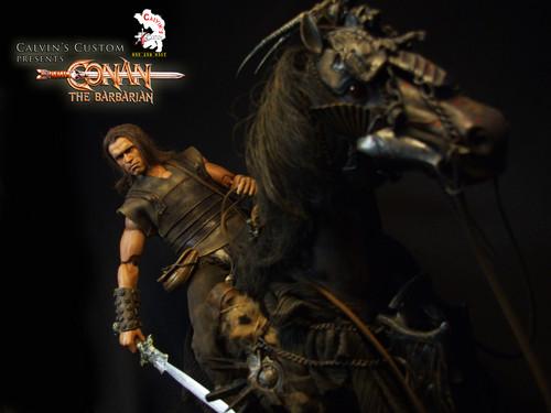 Arnold Schwarzenegger Hintergrund possibly containing a konzert called Calvin's Custom One Sixth scale Conan the Barbarian custom figure