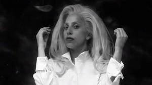 Captures from Backstage Video of Gaga's Photoshoot for Elle Magazine