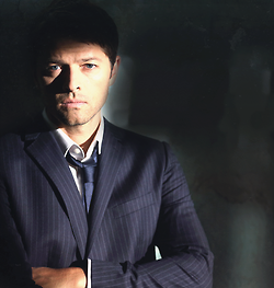 Castiel wallpaper containing a business suit, a suit, and a three piece suit called Castiel Season 9 Promotional Picture