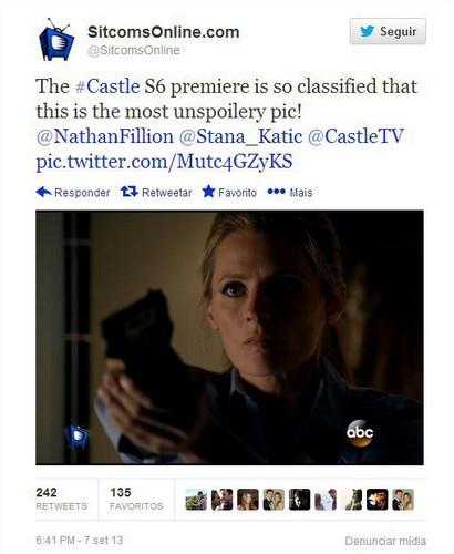 Nathan Fillion & Stana Katic wallpaper called castello foto spoiler-Season 6