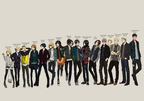 Shingeki no Kyojin (Attack on Titan) Hintergrund probably with a well dressed person and a business suit entitled Casual Clothes