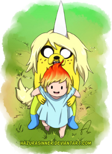 Adventure Time With Finn and Jake wallpaper possibly with anime titled Charlie and An Unnamed Child of Finn and FP