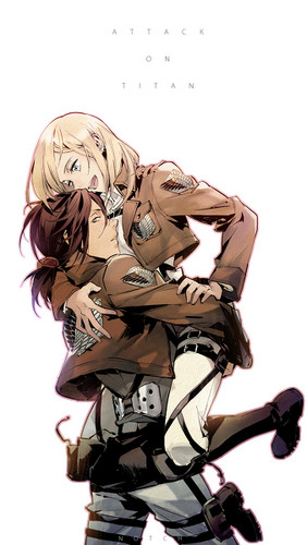 Shingeki no Kyojin (Attack on titan) wallpaper entitled Krista x Ymir
