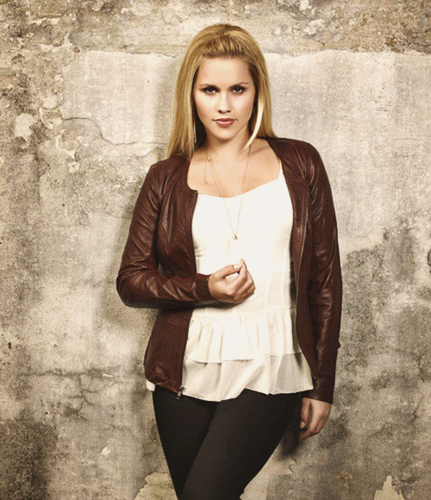 The Originals پیپر وال possibly with bare legs, hosiery, and a hip boot titled Claire Holt - The Originals Season 1 Photoshoot