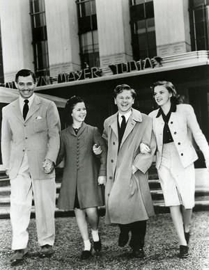 Clark Gable, Shirley Temple, Judy Garland, Mickey Rooney