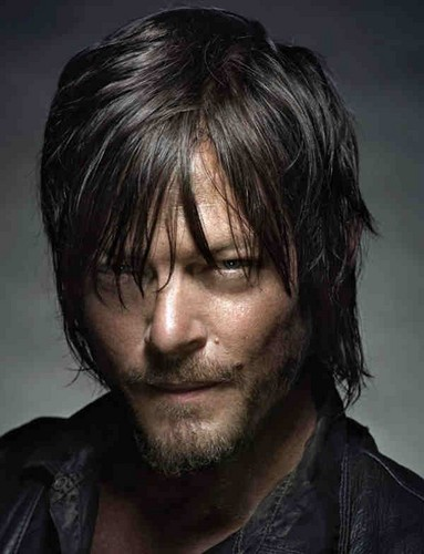 Walking Dead fond d'écran with a portrait titled Daryl Dixon