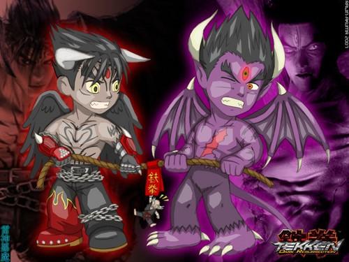 Tekken wallpaper possibly containing anime titled Devil Jin vs Devil Kazuya