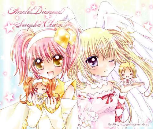 Shugo Chara wallpaper probably with anime titled Diamond-Studded Angel