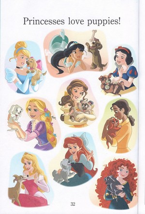 Disney Princesses and Anak Anjing