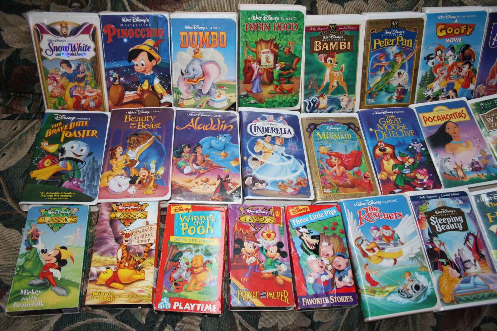 VHS images Disney VHS Tape Collection HD wallpaper and background ...