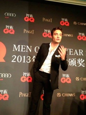 Ed Westwick at the 2013 GQ China Men of the Year Award ceremony