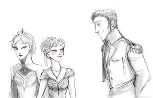 Elsa, Anna and Hans