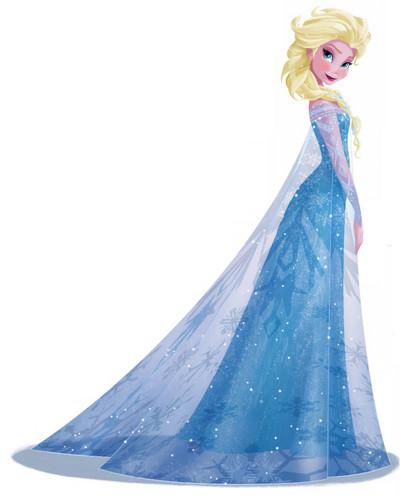 Frozen kertas dinding titled Elsa